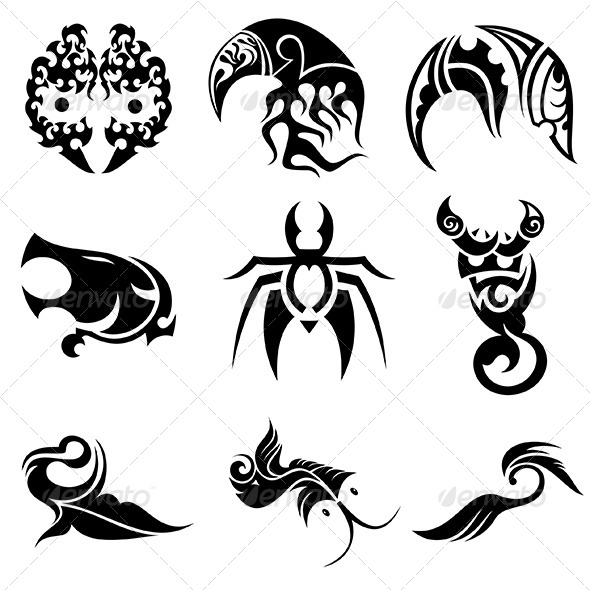 Tribal Animal Abstract Designs Vector Pack