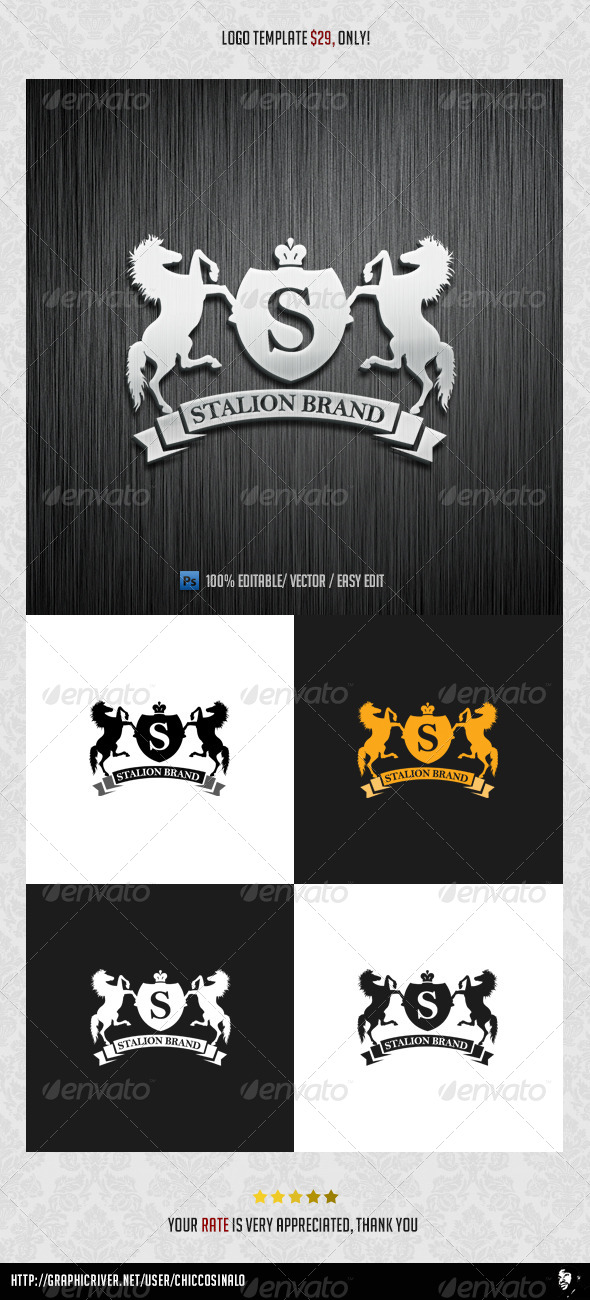 Stallion Brand Logo Template