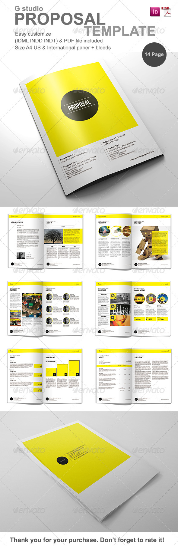 Gstudio Proposal Template - Proposals & Invoices Stationery
