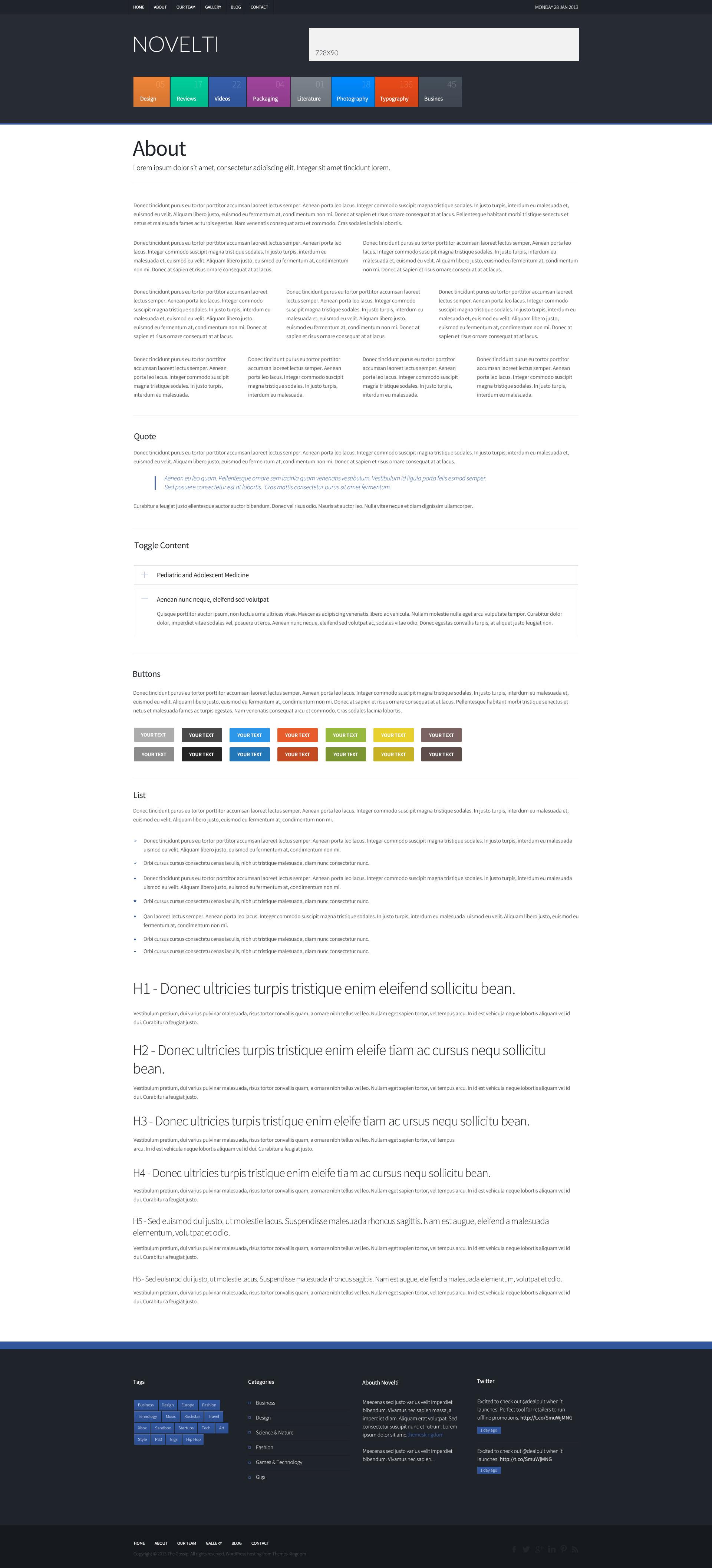 Novelti - Responsive Magazine WordPress Theme