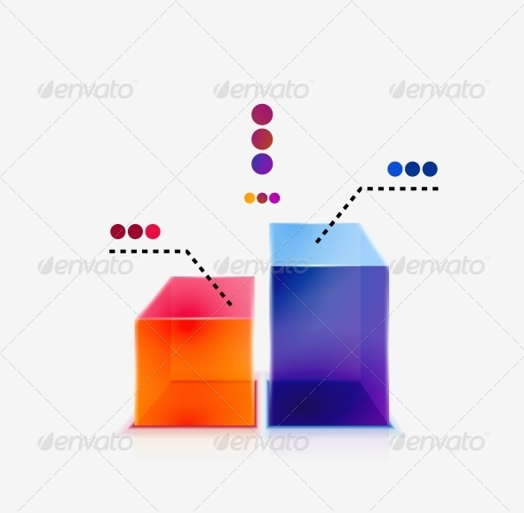 GraphicRiver Abstract Colorful Glossy Graph Concept 4538344