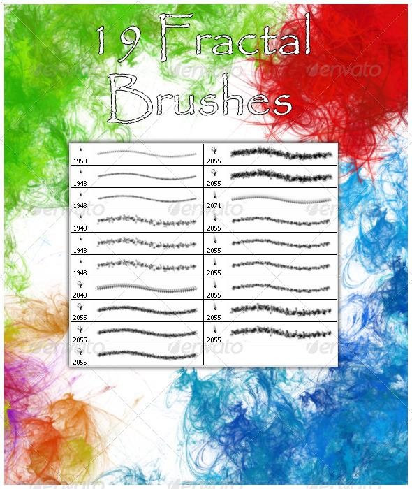 GraphicRiver 19 Fractal Brushes 4538346