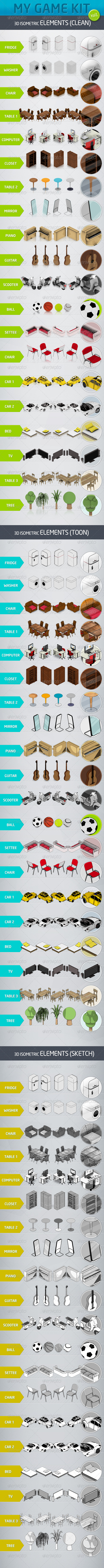 GraphicRiver Mygame 3D Isometric Kit Vol.1 4538492