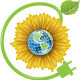 Sunflower and Globe - GraphicRiver Item for Sale