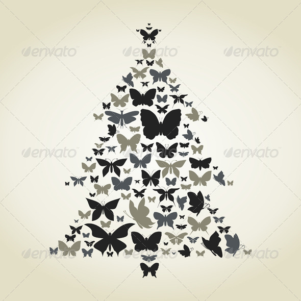 GraphicRiver Butterfly a Pine 4538947