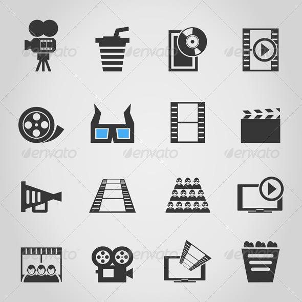 GraphicRiver Cinema Icons 4 4539139