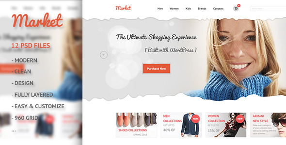 Market - eCommerce, Retail, Shopping PSD  - Shopping Retail