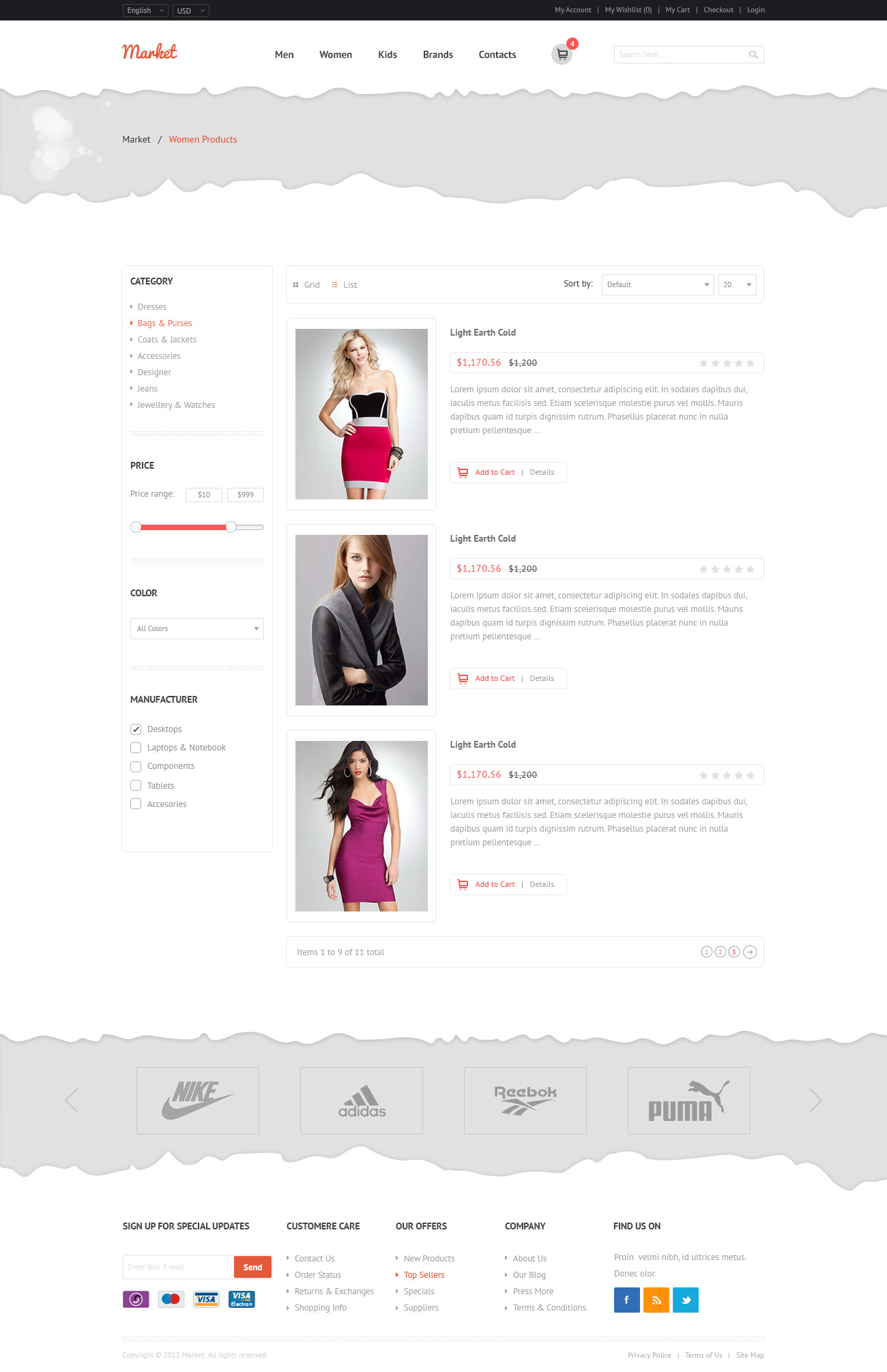 Market - eCommerce, Retail, Shopping PSD