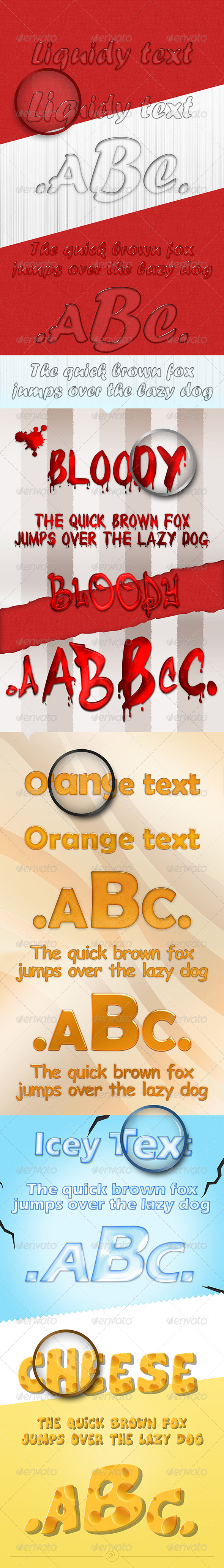 GraphicRiver Liquidy Photoshop Text Effect 4148301