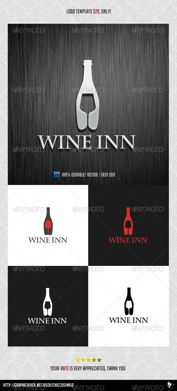 GraphicRiver Wine Inn Logo Template 4539472