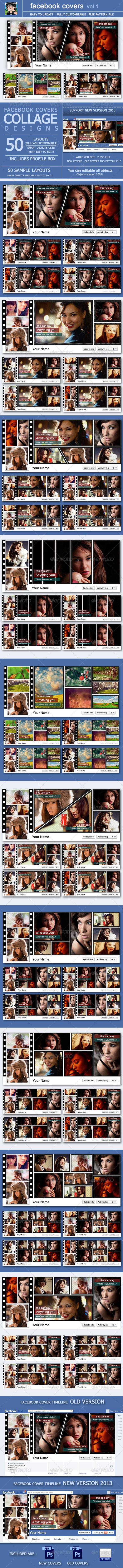 Facebook Covers : Vol 1  - Facebook Timeline Covers Social Media