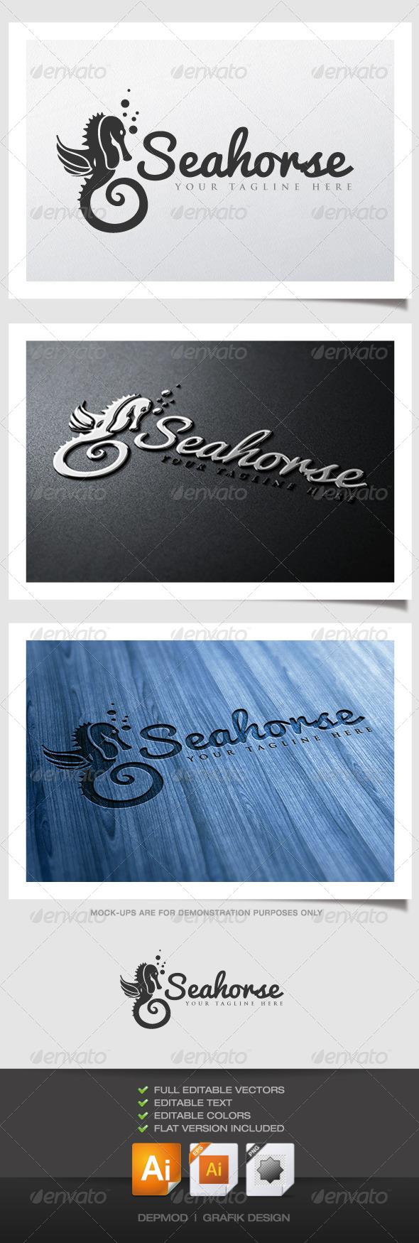 GraphicRiver Seahorse Logo 4539777