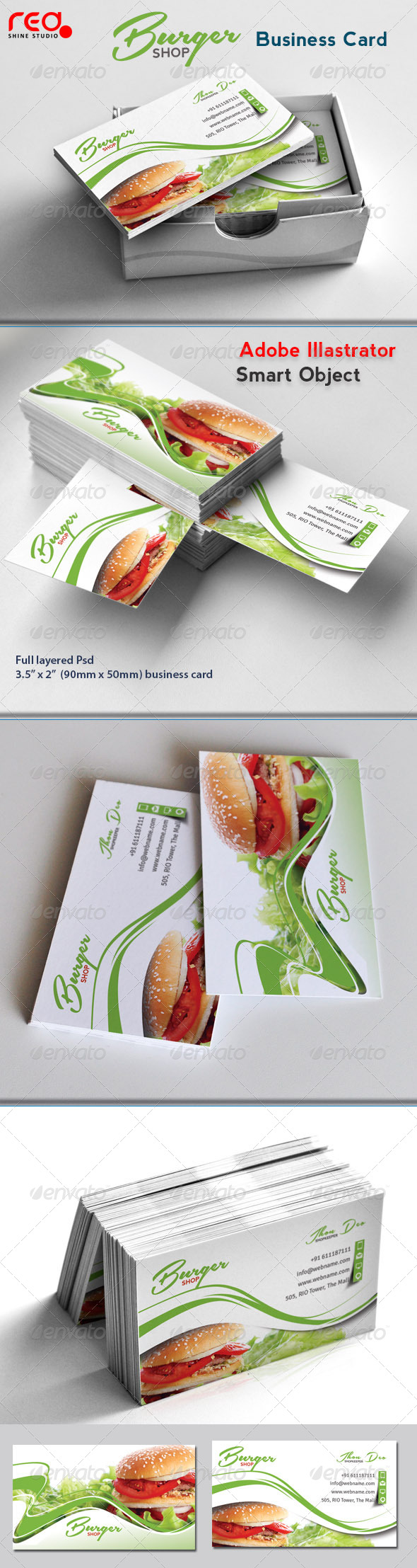 Fast Food Business Card - Industry Specific Business Cards