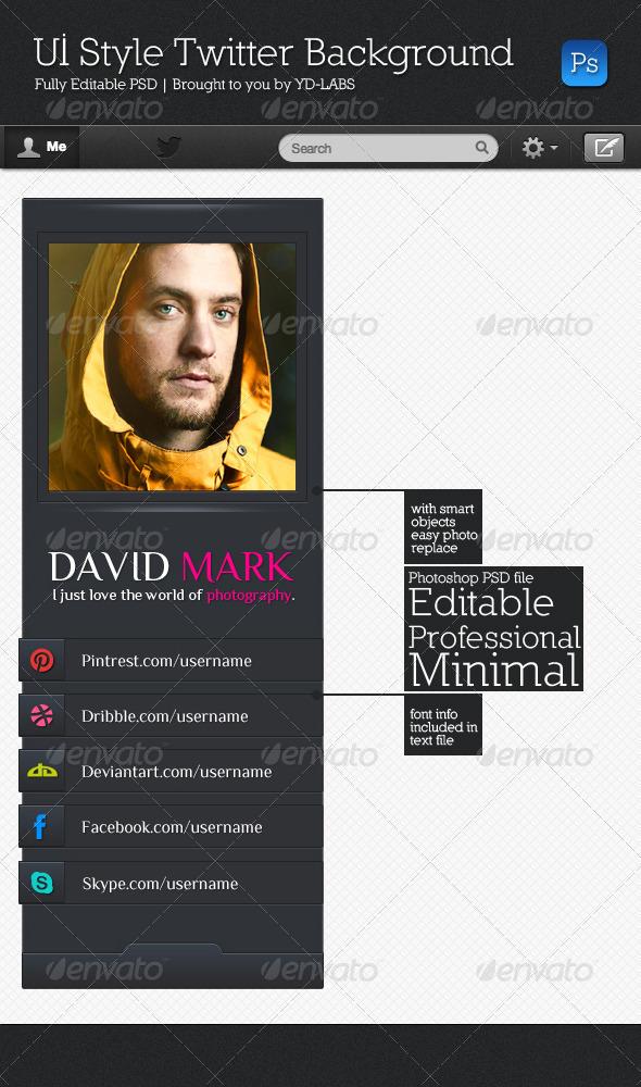 UI Style Background V2 - Twitter Social Media