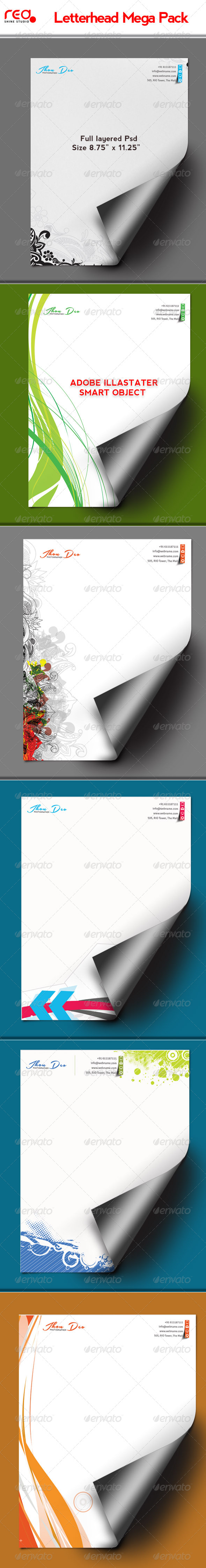 Letterhead Set - Stationery Print Templates