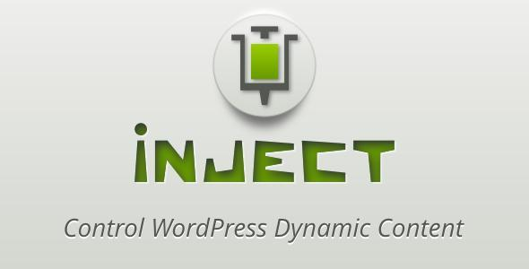 CodeCanyon Inject Control WordPress Dynamic Content 4505693