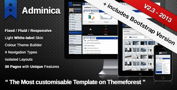 Adminica | The Professional Admin Template - Admin Templates Site Templates