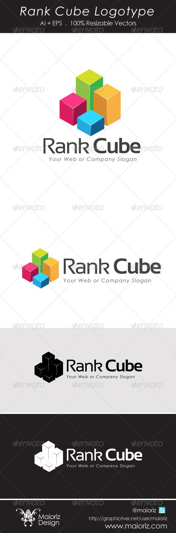 GraphicRiver Rank Cube Logotype 4540281