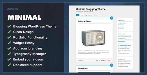 ThemeForest Minimal WordPress Blogging Theme 4540516