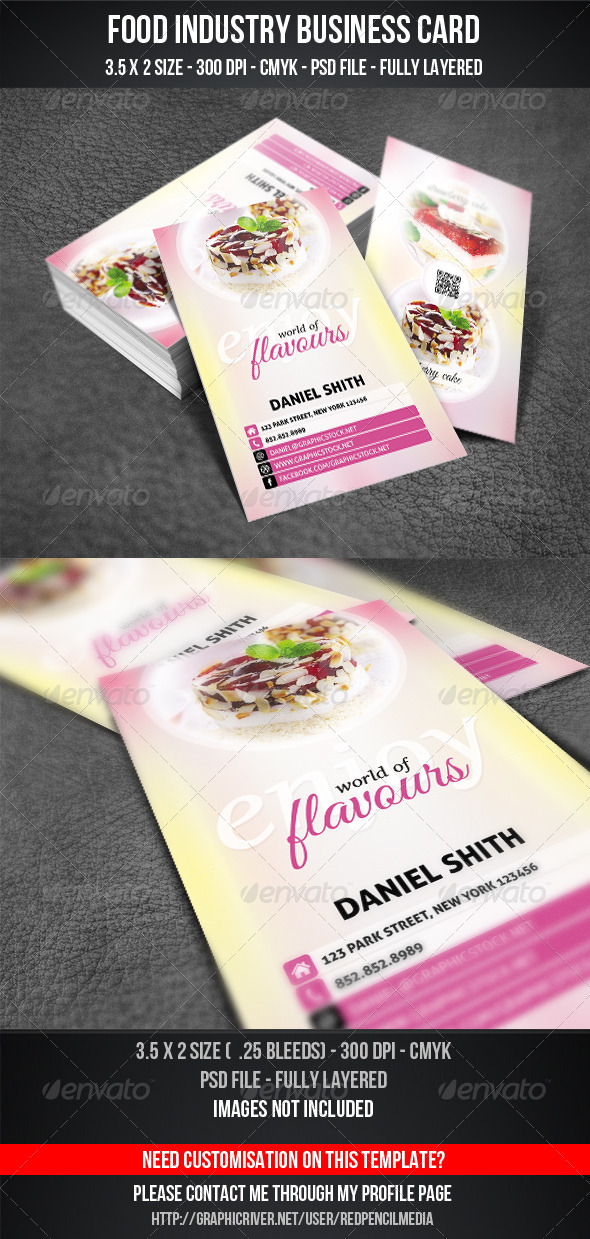 GraphicRiver Food Industry Business Card 4540943