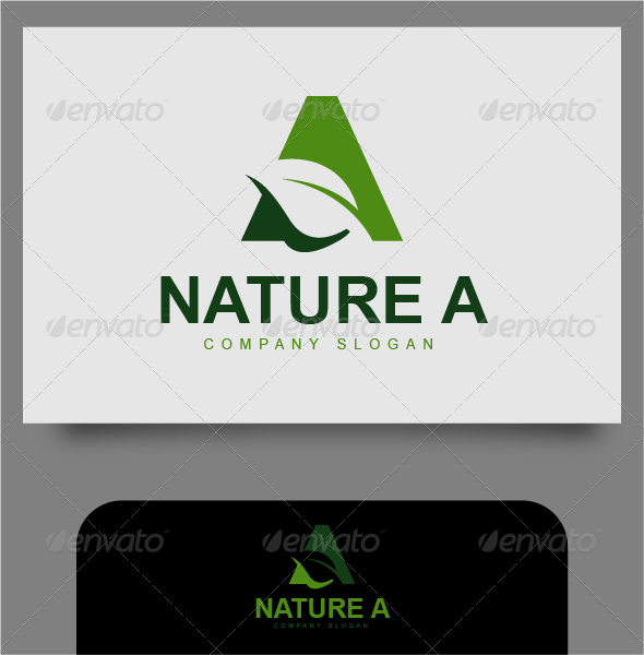 GraphicRiver Nature A Logo 4540994