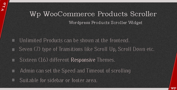 CodeCanyon WP WooCommerce Products Scroller 4541015