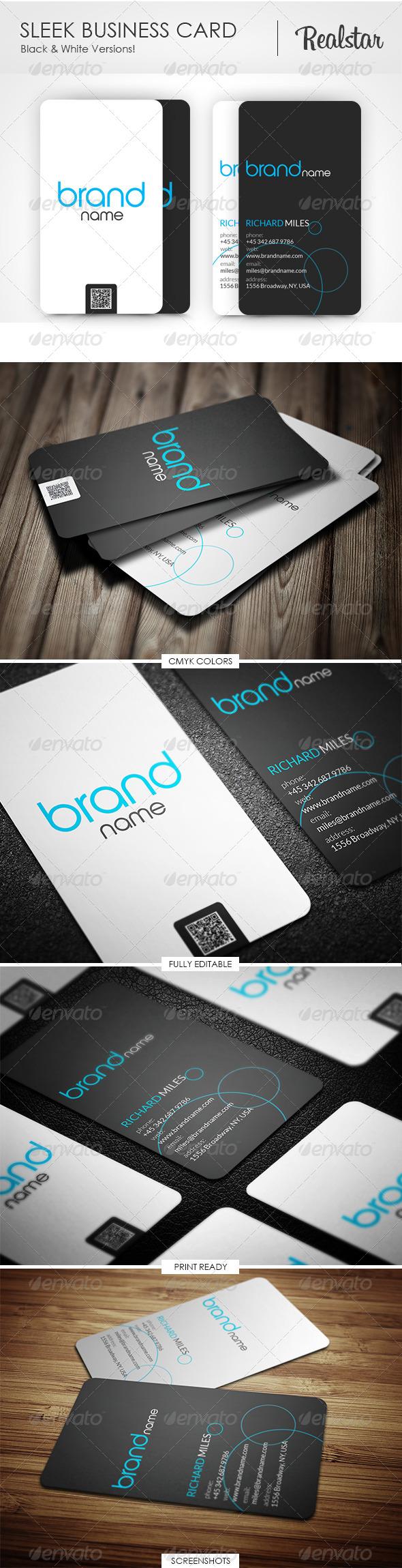 GraphicRiver Sleek Business Card 4541018