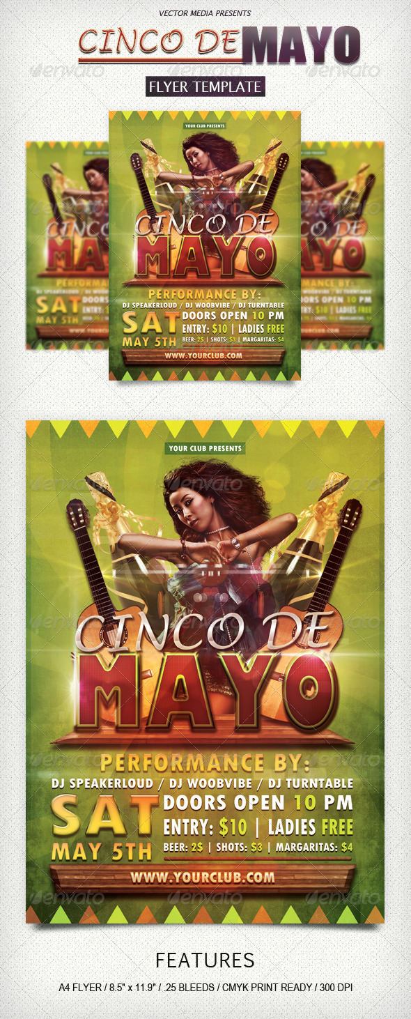Cinco De Mayo - Flyer - Clubs & Parties Events