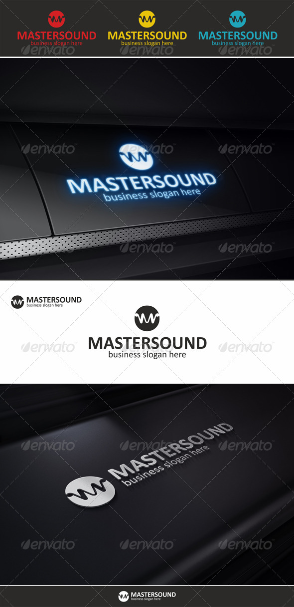 Master Sound - Audio Wave Logo - Symbols Logo Templates