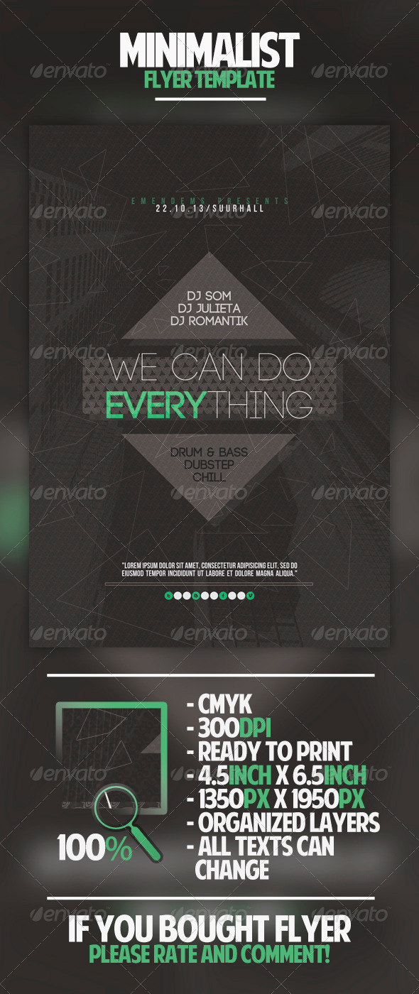 GraphicRiver Minimalist Flyer Template 4541467