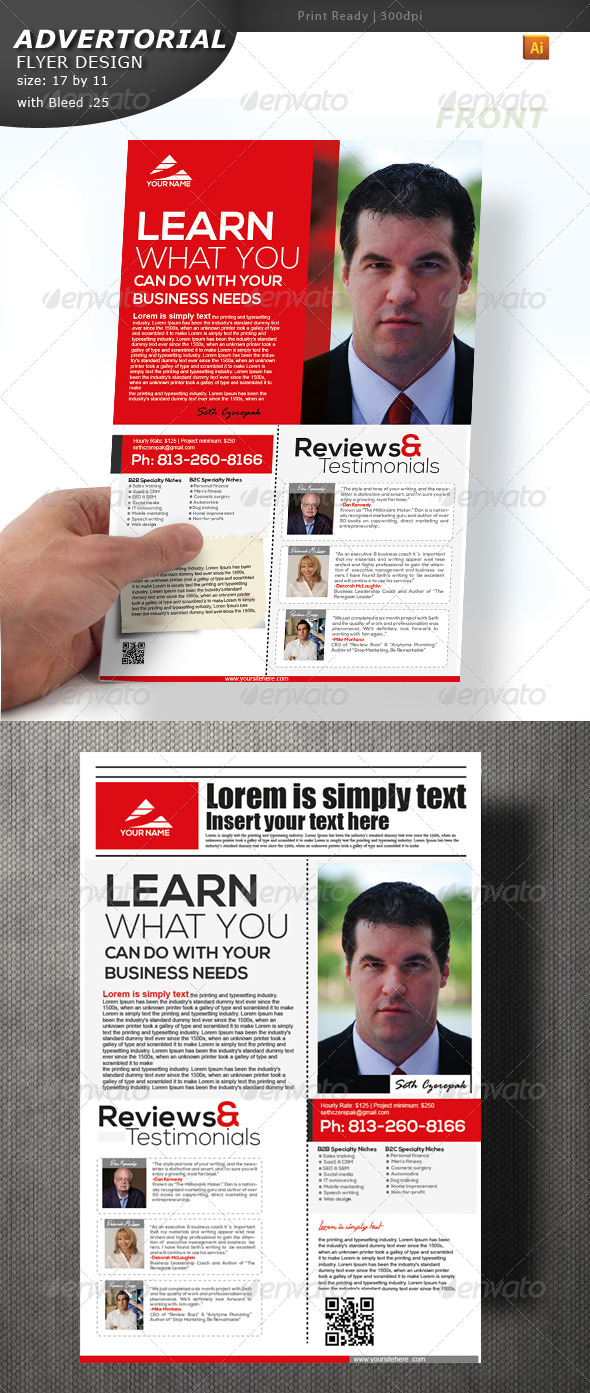 GraphicRiver Advertorial Flyer Design 4541558