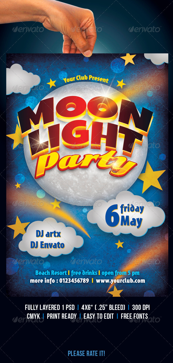 GraphicRiver Moonlight Party 4458091