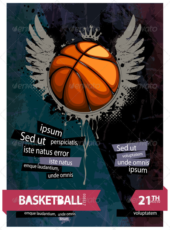 GraphicRiver Grunge basketball illustration 478111
