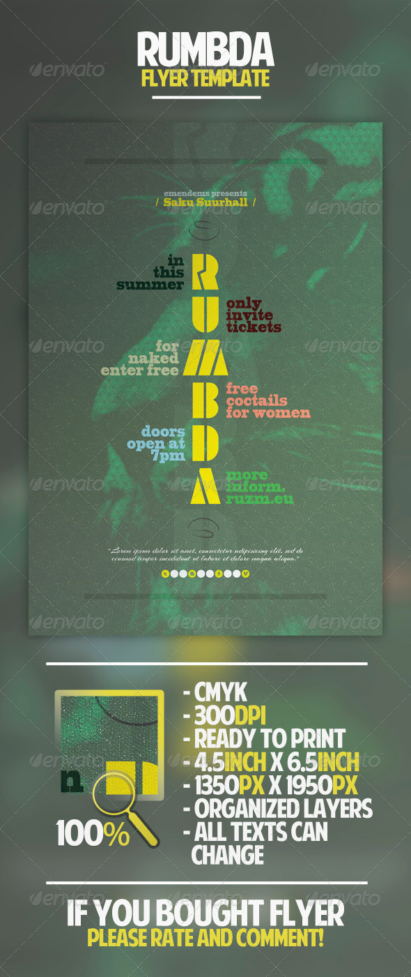 GraphicRiver Rumbda Flyer Template 4541807