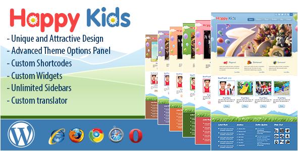 ThemeForest Happy Kids Children WordPress Theme 4452871
