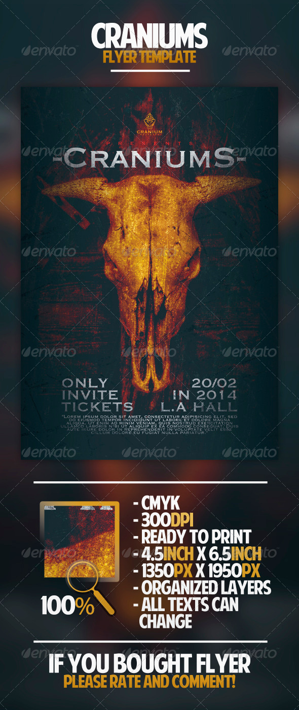 GraphicRiver Craniums Flyer Template 4465902