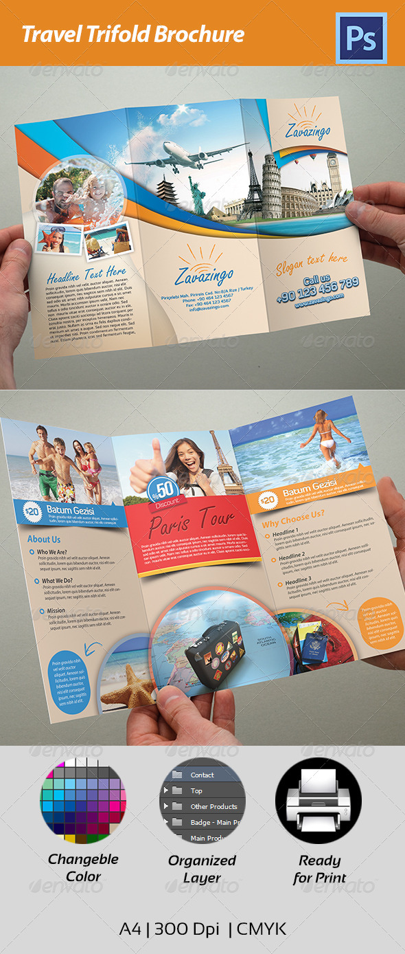 GraphicRiver Travel Trifold Brochure 4541847