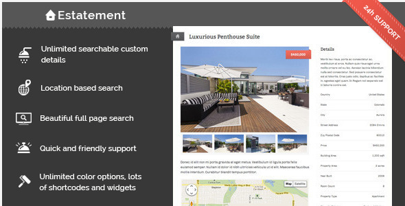 ThemeForest Estatement Powerful Real Estate Management 4522669