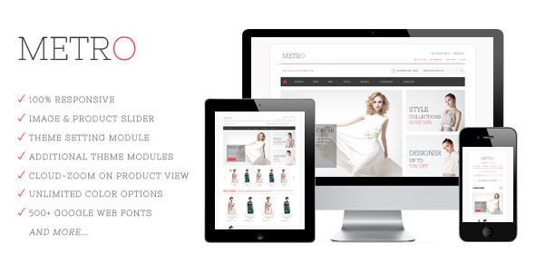 ThemeForest Metro Responsive Prestashop Theme 4542270