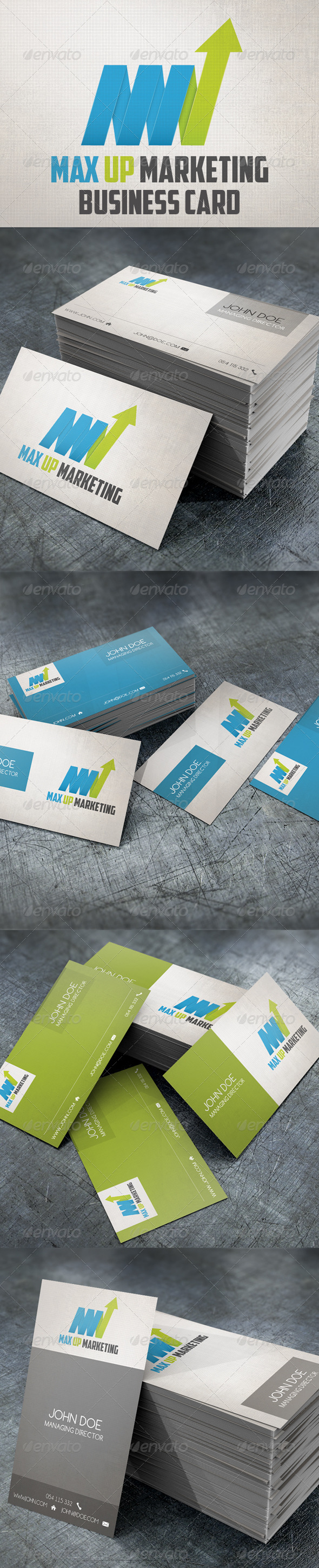 GraphicRiver Max Up Business Card & Logo 4461927