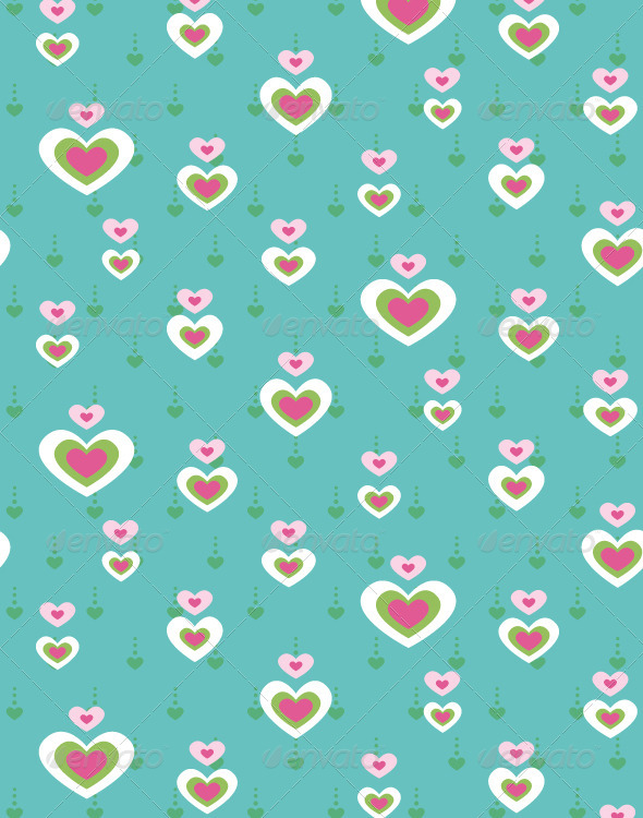 GraphicRiver Heart Seamless Pattern 4489397