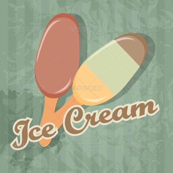 Retro Ice Cream background