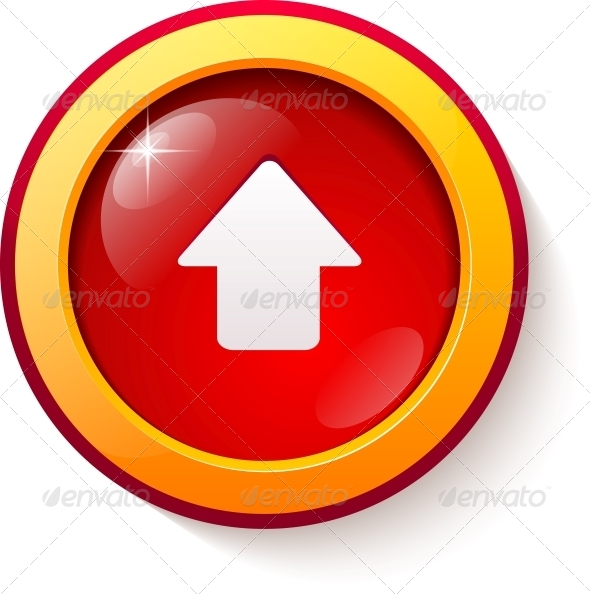 GraphicRiver Red Glass Vector Arrow Button 4542956