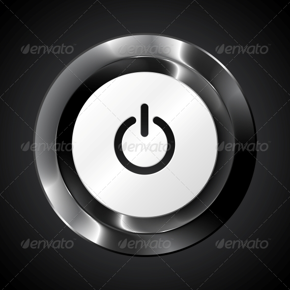 GraphicRiver Black Metallic Vector Power Button 4542964