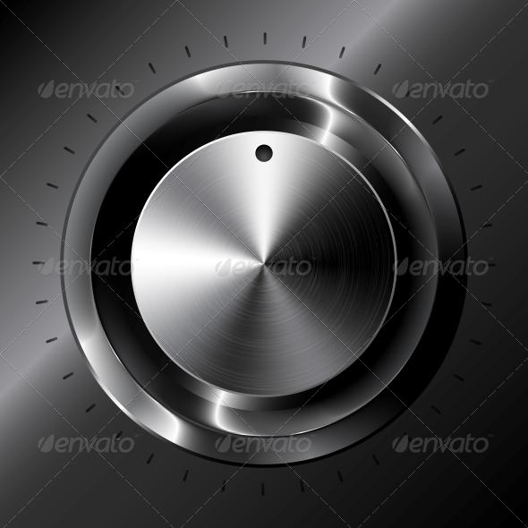 GraphicRiver Black Metallic Vector Tuner 4542967
