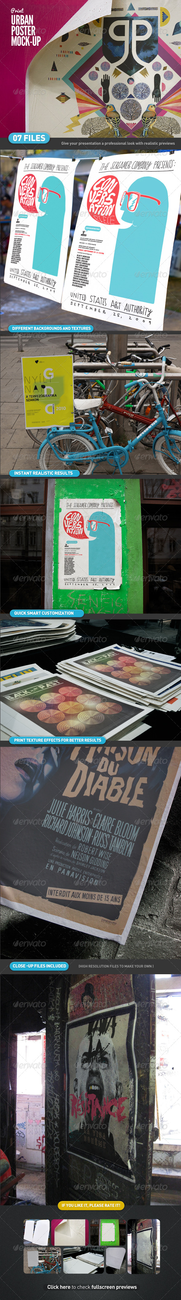 GraphicRiver Urban Poster Mock-Up 4543423