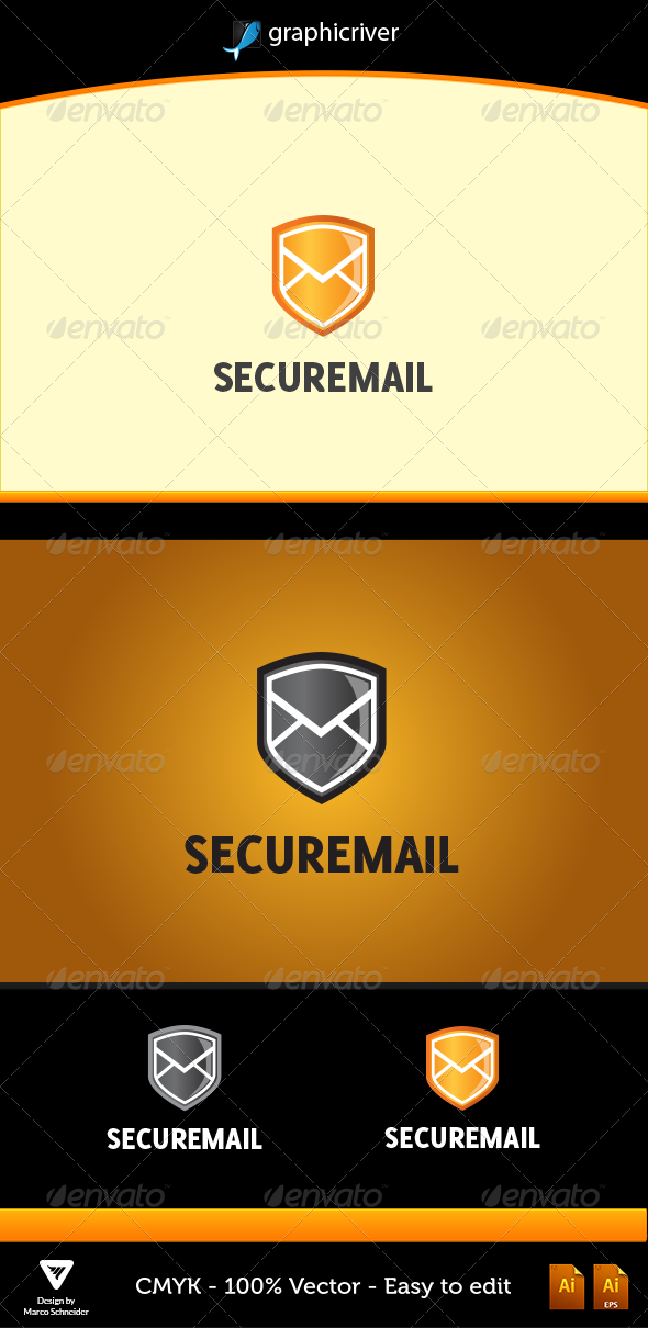 SECUREMAIL - Symbols Logo Templates