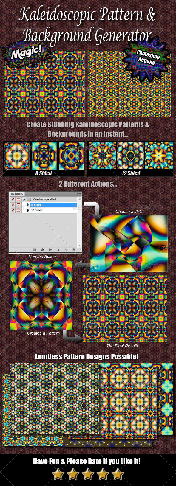 GraphicRiver Kaleidoscope Pattern & Background Generator 4544332