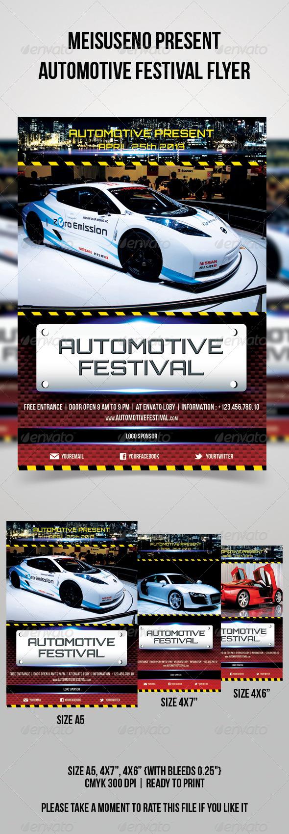 GraphicRiver Automotive Festival Flyer 4463404