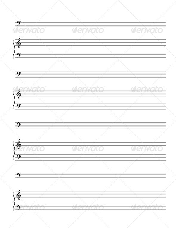 GraphicRiver Standart Music Staff 4544628